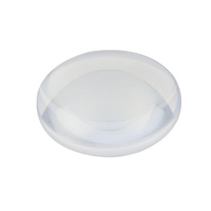 LA4184-UV - f = 500.0 mm, Ø1in UV Fused Silica Plano-Convex Lens, AR Coating: 245-400 nm