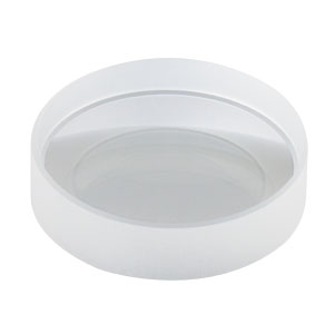 LD4293-UV - f = -50.2 mm, Ø1in UV Fused Silica Bi-Concave Lens, AR Coating: 245 - 400 nm