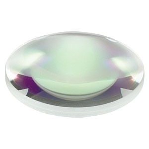 LB1056-C - N-BK7 Bi-Convex Lens, Ø1in, f = 250.0 mm, ARC: 1050 - 1700 nm