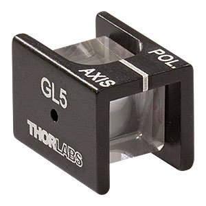 GL5 - Mounted Glan-Laser Polarizer, Ø5 mm CA, Uncoated
