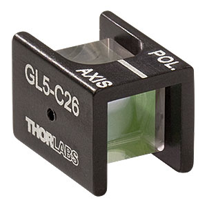 GL5-C26 - Mounted Glan-Laser Polarizer, Ø5 mm CA, 1064 nm V-Coating