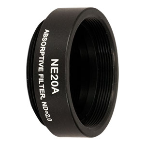 NE20A - Ø25 mm Absorptive ND Filter, SM1-Threaded Mount, Optical Density: 2.0