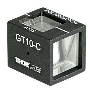 GT10-C - Glan-Taylor Polarizer, 10 mm Clear Aperture, Coating: 1050 - 1700 nm