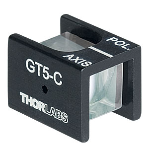 GT5-C - Glan-Taylor Polarizer, 5 mm Clear Aperture, Coating: 1050 - 1700 nm