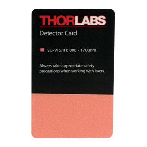 thorlabs vc visir viewing card ir  vis absorption bands   nm   nm