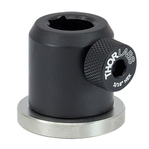PH1E - Ø1/2in Pedestal Post Holder, Spring-Loaded Hex-Locking Thumbscrew, L=1.19in