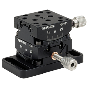 GN2 - Small Dual-Axis Goniometer, 1/2in Distance to Point of Rotation, 2 Goniometers and Base
