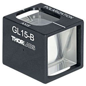GL15-B - Mounted Glan-Laser Polarizer, Ø15 mm CA, AR Coating: 650 - 1050 nm