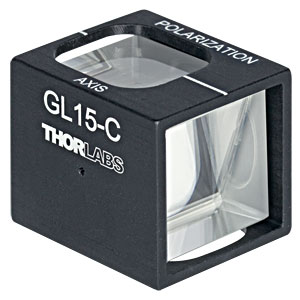 GL15-C - Mounted Glan-Laser Polarizer, Ø15 mm CA, AR Coating: 1050 - 1700 nm