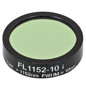 FL1152-10 - Ø1in Laser Line Filter, CWL = 1152 ± 2 nm, FWHM = 10 ± 2 nm