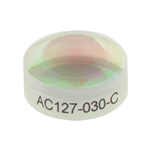 AC127-030-C - f = 30.0 mm, Ø1/2in Achromatic Doublet, ARC: 1050 - 1700 nm