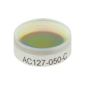AC127-050-C - f = 50.0 mm, Ø1/2in Achromatic Doublet, ARC: 1050 - 1700 nm