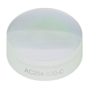 AC254-030-C - f=30.0 mm, Ø1in Achromatic Doublet, ARC: 1050-1700 nm