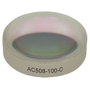 AC508-100-C - f = 100.0 mm, Ø2in Achromatic Doublet, ARC: 1050 - 1700 nm