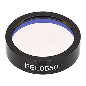 FEL0550 - Ø1in Longpass Filter, Cut-On Wavelength: 550 nm