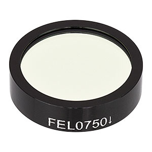 FEL0750 - Ø1in Longpass Filter, Cut-On Wavelength: 750 nm
