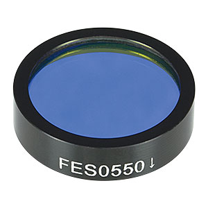 FES0550 - Ø1in Shortpass Filter, Cut-Off Wavelength: 550 nm