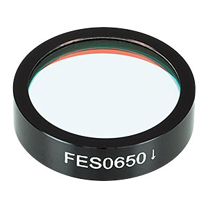 FES0650 - Ø1in Shortpass Filter, Cut-Off Wavelength: 650 nm