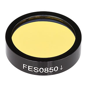 FES0850 - Ø1in Shortpass Filter, Cut-Off Wavelength: 850 nm