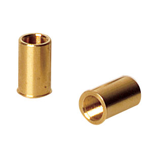 F25SSN1 - Threaded Bushing, Brass, 1/4in-80, 0.63in Long