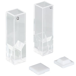 CV10Q100F - 100 µL Super Micro Fluorescence Cuvette with Cap, 8.5 mm Beam Height, 2 Pack