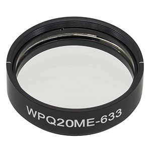 WPQ20ME-633 - Ø2in Mounted Polymer Zero-Order Quarter-Wave Plate, SM2-Threaded Mount, 633 nm