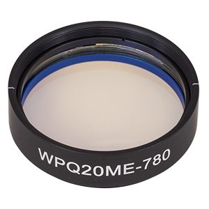 WPQ20ME-780 - Ø2in Mounted Polymer Zero-Order Quarter-Wave Plate, SM2-Threaded Mount, 780 nm