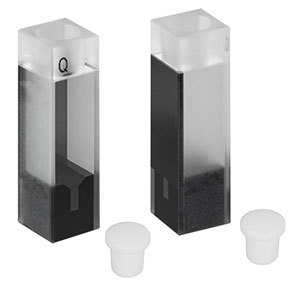 CV10Q100S - 100 µL Super Micro Cuvette with Stopper, 8.5 mm Beam Height, 2 Pack