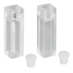 CV10Q1400FS - 1400 µL Micro Fluorescence Cuvette with Stopper, 2 Pack