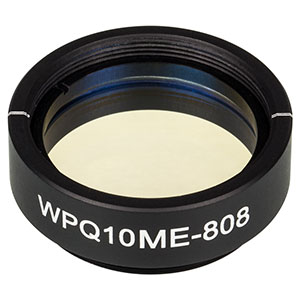 WPQ10ME-808 - Ø1in Mounted Polymer Zero-Order Quarter-Wave Plate, SM1-Threaded Mount, 808 nm