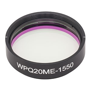 WPQ20ME-1550 - Ø2in Mounted Polymer Zero-Order Quarter-Wave Plate, SM2-Threaded Mount, 1550 nm