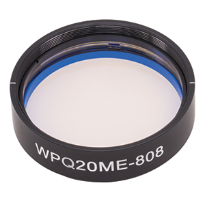 WPQ20ME-808 - Ø2in Mounted Polymer Zero-Order Quarter-Wave Plate, SM2-Threaded Mount, 808 nm
