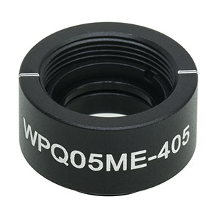 WPQ05ME-405 - Ø1/2in Mounted Polymer Zero-Order Quarter-Wave Plate, SM05-Threaded Mount, 405 nm