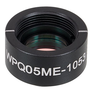 WPQ05ME-1053 - Ø1/2in Mounted Polymer Zero-Order Quarter-Wave Plate, SM05-Threaded Mount, 1053 nm