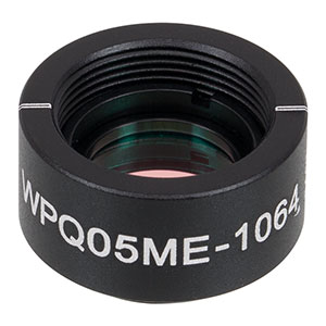 WPQ05ME-1064 - Ø1/2in Mounted Polymer Zero-Order Quarter-Wave Plate, SM05-Threaded Mount, 1064 nm