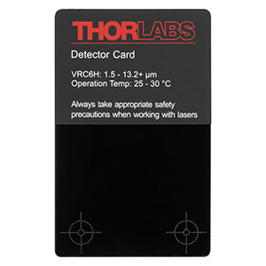 VRC6H - MIR Liquid Crystal Detector Card, 1.5 to >13.2 µm, 25 to 30 °C Ambient Temperature
