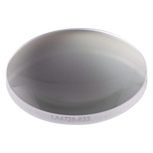 LA4725-633 - f = 75 mm, Ø1in UVFS Plano-Convex Lens, 633 nm V-Coat