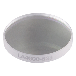 LA4600-633 - f = 100 mm, Ø1/2in UVFS Plano-Convex Lens, 633 nm V-Coat