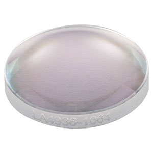 LA4936-1064 - f = 30 mm, Ø1/2in UVFS Plano-Convex Lens, 1064 nm V-Coat