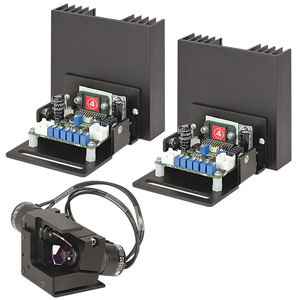 GVS312/M - 2D Large Beam (10 mm) Diameter Galvo System, Dual Band Mirrors 532 nm/1064 nm (-K13), Metric, PSU Not Included