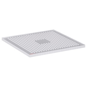 CMMP1212V - Acrylic Breadboard, 12in x 12in, 1/4in-20 Tapped Mounting Holes