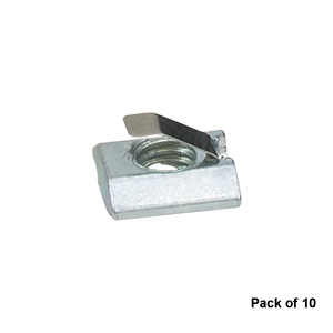LPC06 - Curtain Stop T-Nuts for Curtain System, M8 Tapped Hole (Pack of 10)