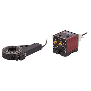 KPRM1E - Ø1in Motorized Precision Rotation Stage (Imperial) Bundled with DC Servo Motor Driver and Power Supply