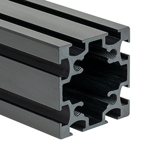 XE50L20 - 50 mm Square Construction Rail, 20in Long, 1/4in-20 Taps