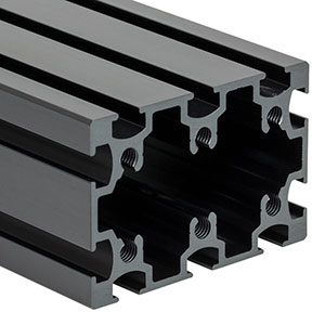 XE5075L20 - 50 mm x 75 mm Construction Rail, 20in Long, 1/4in-20 Taps