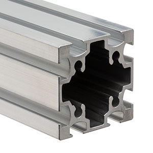 XE50R - Raw, Unanodized 50 mm Square Rail Extrusion, 2.8 m (9.2') Long