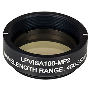 LPVISA100-MP2 - Ø25.0 mm SM1-Mounted Linear Polarizer, 480 - 550 nm