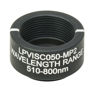LPVISC050-MP2 - Ø12.5 mm SM05-Mounted Linear Polarizer, 510 - 800 nm