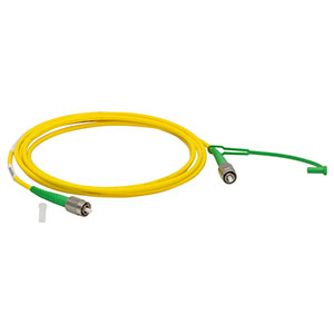 P3-SMF28EAR-2 - SM Patch Cable, AR-Coated FC/APC to Uncoated FC/APC, 1260 - 1620 nm, 2 m