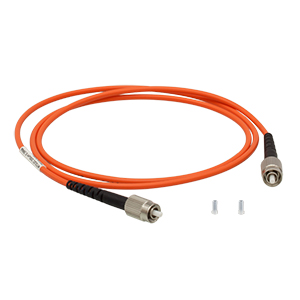 M123L01 - Ø200 µm, 0.50 NA, Low OH, FC/PC-FC/PC Fiber Patch Cable, 1 m